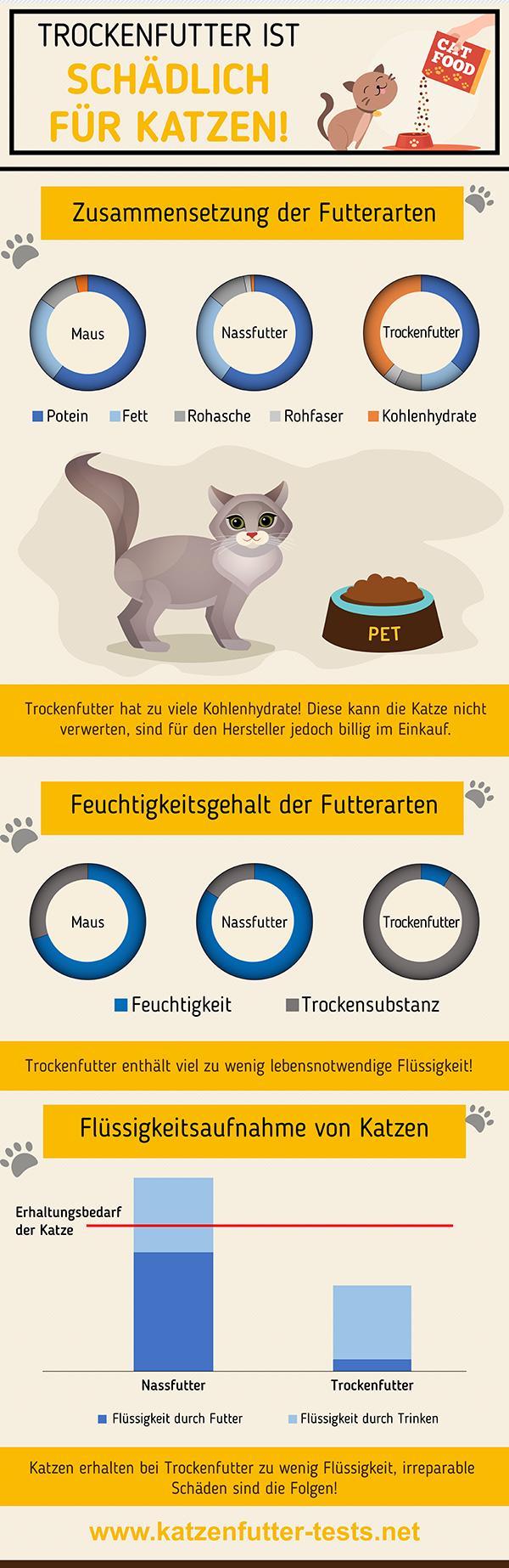 Infografik - Trockenfutter ist schädlich